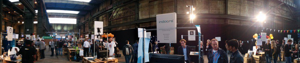 indoo.rs booth at the Uprise Festival