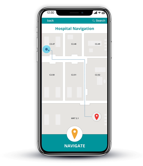 healthcare and hospital navigatin via smartphone provided by indoo.rs the leading indoor positioning provider