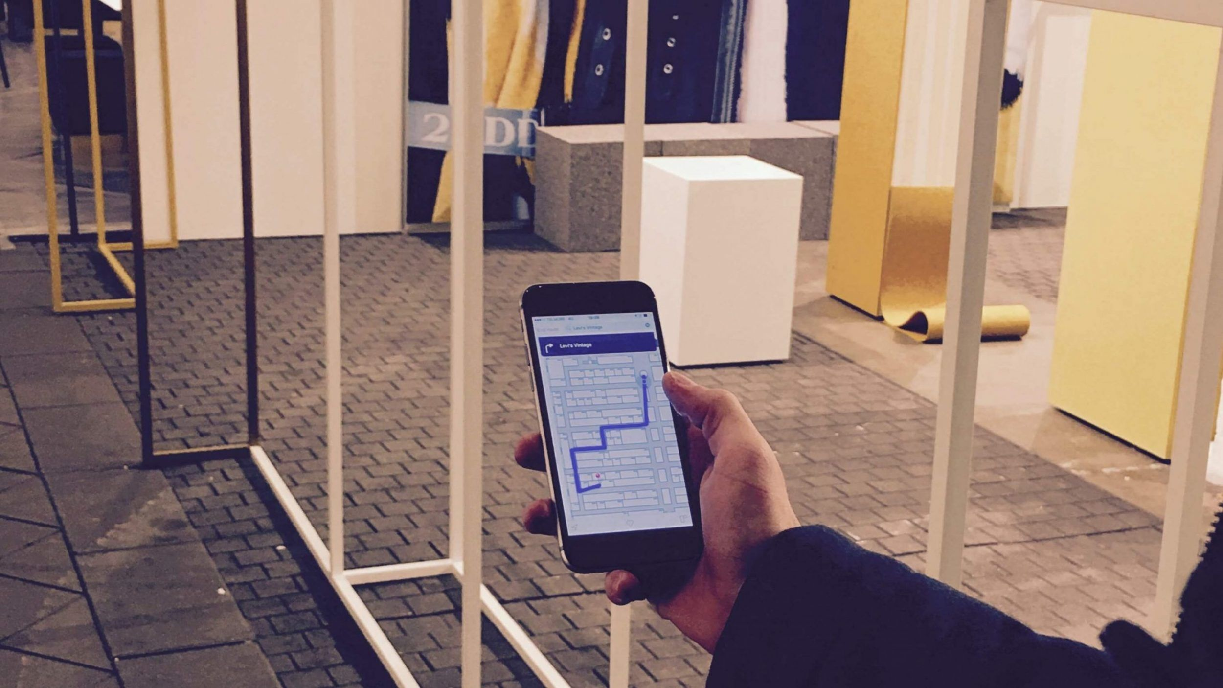 copenhagen_fashion_show using indoo.rs indoor positioning and navigation