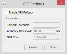 release 3.3.0 GPS Settings