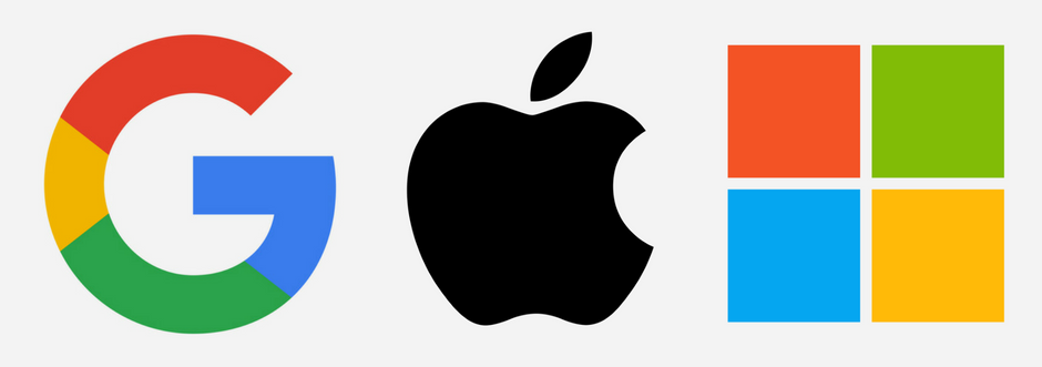 Image result for apple google microsoft