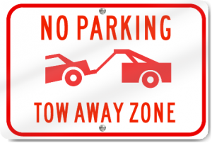 Towning zone sign