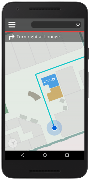 Office Navigation map powered by Jibestream