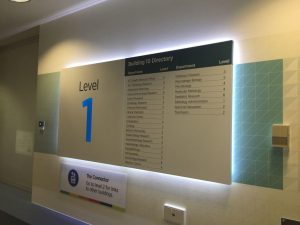 Indoor Hospital Navigation signage