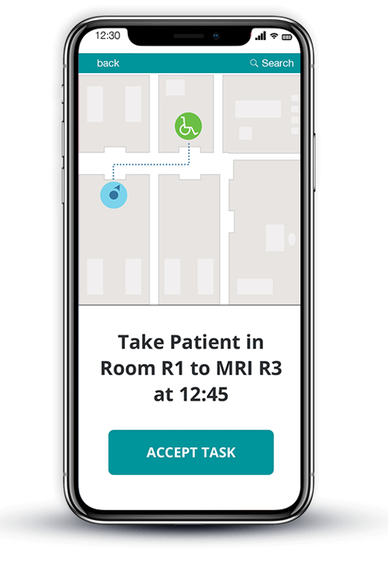 asset tracking in hospitals mockup
